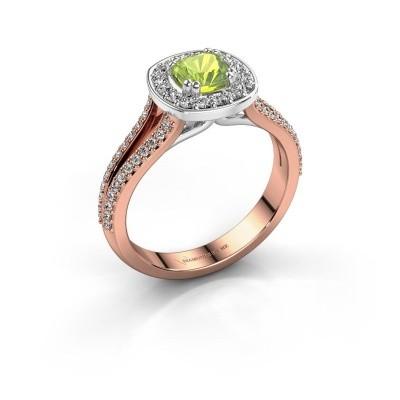 Engagement ring Carolina 2 585 rose gold peridot 5 mm