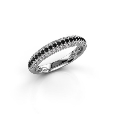 Foto van Ring Emely 2 585 witgoud zwarte diamant 0.597 crt