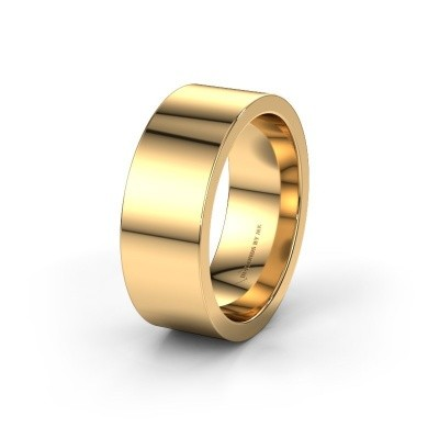 Wedding ring WH0100M18BP 585 gold ±0.31x0.08 in