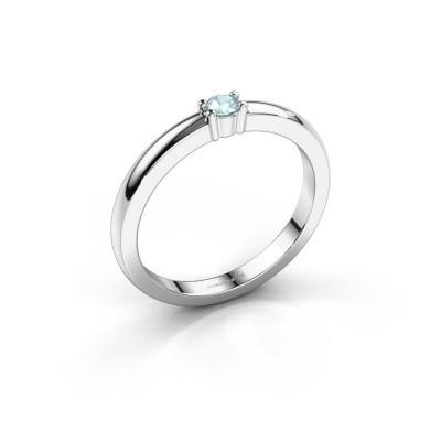 Foto van Promise ring Yasmin 1 925 zilver aquamarijn 2.7 mm