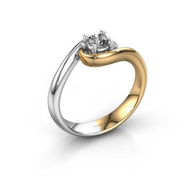 Foto van Ring Linn 585 goud diamant 0.25 crt