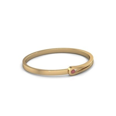 Bracelet jonc Kiki 585 or jaune rubis 4 mm