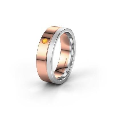 Trouwring WH0301L16APM 585 rosé goud citrien ±6x1.7 mm