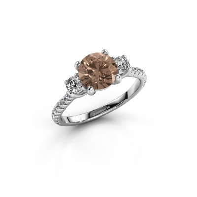 Verlobungsring Jesica 585 Weißgold Braun Diamant 1.68 crt