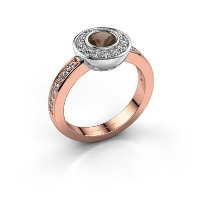 Ring Ivy 585 rose gold smokey quartz 5 mm