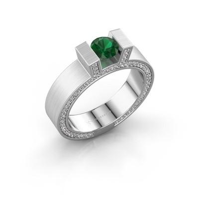Foto van Ring Leena 2 925 zilver smaragd 5 mm