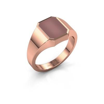 Signet ring Glenn 1 375 rose gold carnelian 10x8 mm
