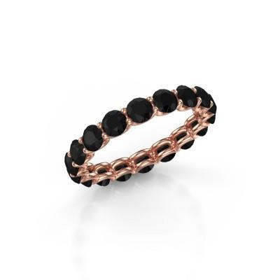 Foto van Ring Kirsten 3.4 375 rosé goud zwarte diamant 3.240 crt