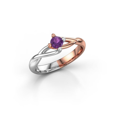 Picture of Engagement ring Paulien 585 rose gold amethyst 4 mm