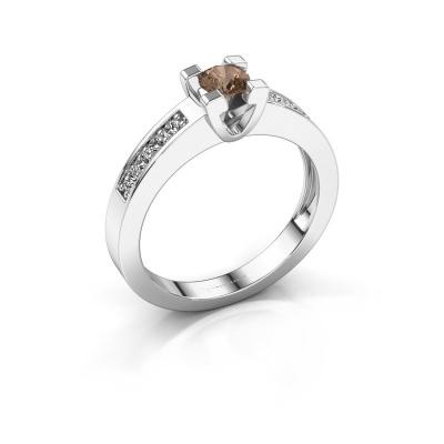 Aanzoeksring Anne 2 585 witgoud bruine diamant 0.30 crt