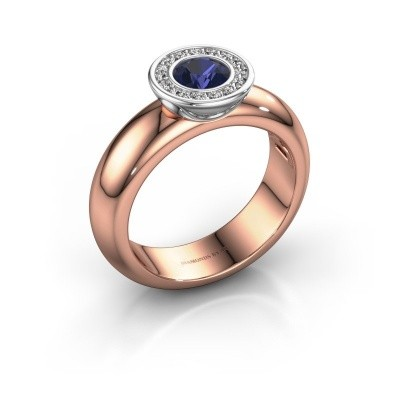 Picture of Stacking ring Anna 585 rose gold sapphire 5 mm
