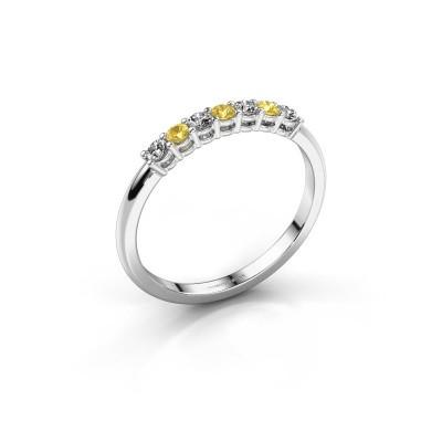 Verlobungsring Michelle 7 585 Weißgold Gelb Saphir 2 mm