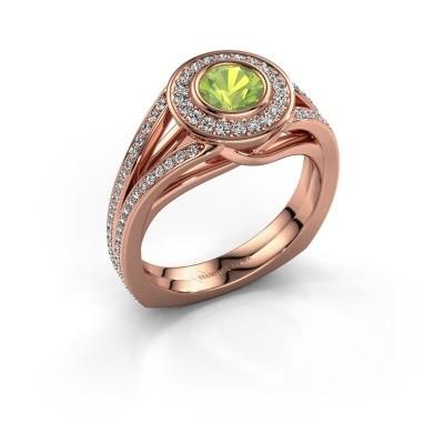 Foto van Ring Kellee 375 rosé goud peridoot 5 mm