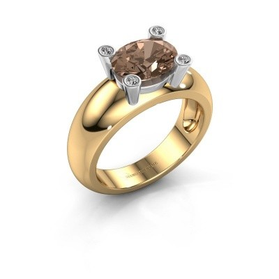 Ring Tamara OVL 585 goud bruine diamant 1.80 crt