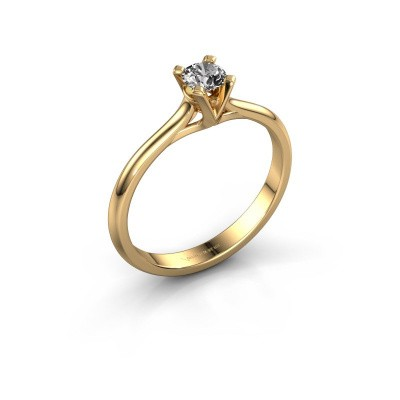 Picture of Engagement ring Isa 1 375 gold zirconia 4 mm
