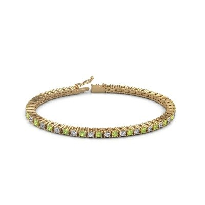 Tennis bracelet Petra 375 gold peridot 3 mm