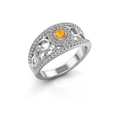 Foto van Ring Lavona 925 zilver citrien 3.4 mm