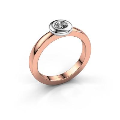 Bague Iris 585 or rose diamant 0.25 crt