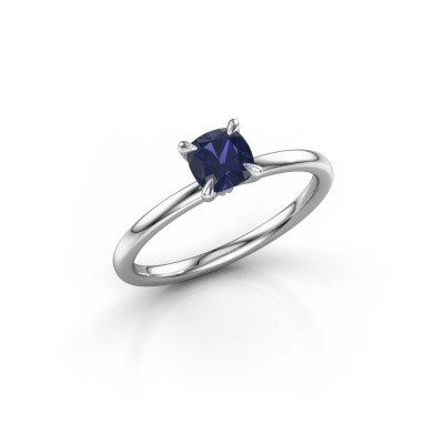 Picture of Engagement ring Crystal CUS 1 925 silver sapphire 5.5 mm