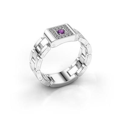 Foto van Rolex stijl ring Giel 950 platina amethist 2.7 mm