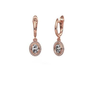Foto van Oorhangers Noud OVL 375 rosé goud lab-grown diamant 0.50 crt