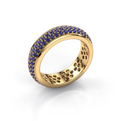 Ring Tara 585 goud saffier 1.3 mm