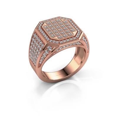 Heren ring Bjorn 375 rosé goud diamant 2.082 crt