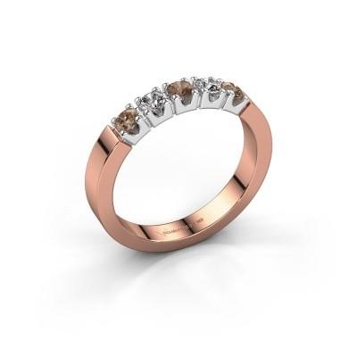 Verlobungsring Dana 5 585 Roségold Braun Diamant 0.50 crt