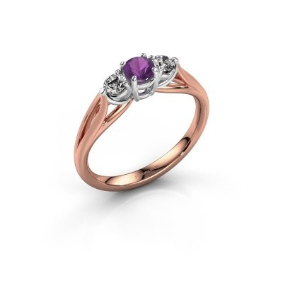 Picture of Engagement ring Amie RND 585 rose gold amethyst 4.2 mm