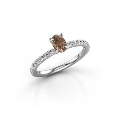 Foto van Verlovingsring Crystal OVL 2 925 zilver bruine diamant 0.680 crt