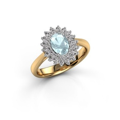 Engagement ring Alina 1 585 gold aquamarine 7x5 mm