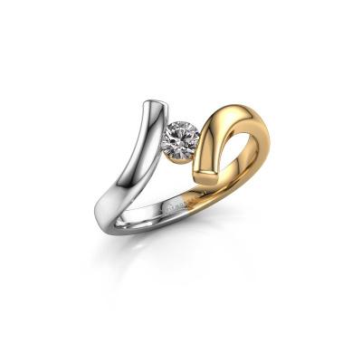 Ring Amy 585 goud diamant 0.25 crt