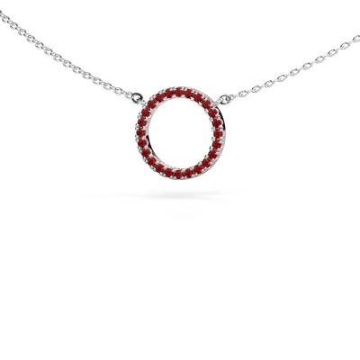 Hanger Circle 925 zilver robijn 1.2 mm
