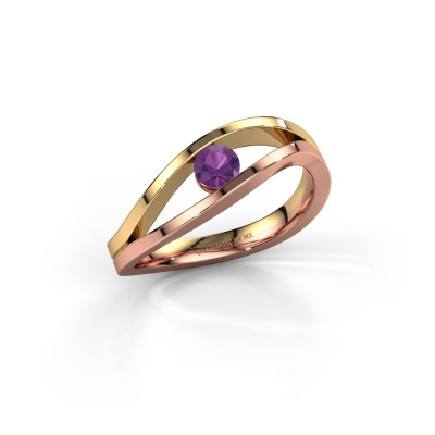 Picture of Engagement ring Sigrid 1 585 rose gold amethyst 3.7 mm