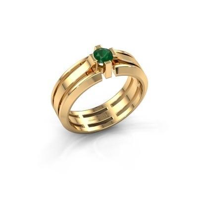 Foto van Heren ring Sem 585 goud smaragd 4.7 mm