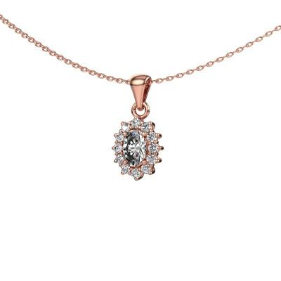 Foto van Hanger Margien 375 rosé goud diamant 0.50 crt