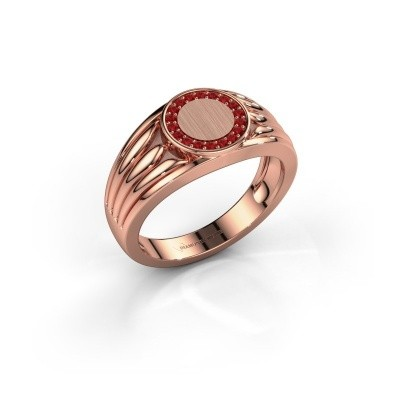 Pinky ring Jacobus 375 rose gold ruby 1.2 mm