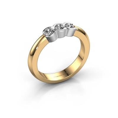Picture of Engagement ring Lotte 3 585 gold lab-grown diamond 0.30 crt