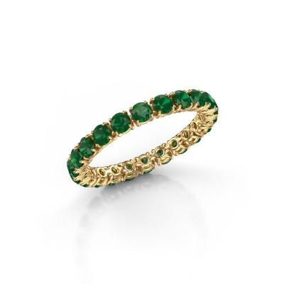 Foto van Ring Vivienne 2.7 375 goud smaragd 2.7 mm