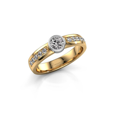 Engagement ring Ise 2 585 gold diamond 0.60 crt