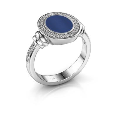 Zegelring Bailey 950 platina lapis lazuli 10x8 mm