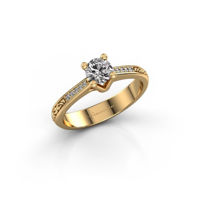 Picture of Engagement ring Mei 585 gold lab-grown diamond 0.449 crt