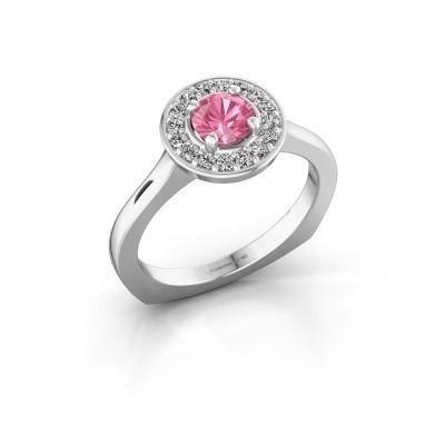 Foto van Ring Kanisha 1 950 platina roze saffier 5 mm