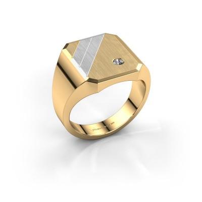 Foto van Zegelring Patrick 4 585 goud diamant 0.06 crt