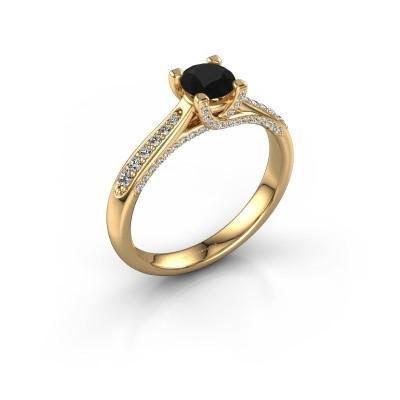 Foto van Verlovingsring Mia 3 375 goud zwarte diamant 0.848 crt