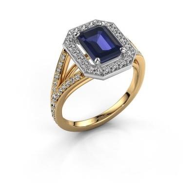 Promise ring Angelita EME 585 goud saffier 8x6 mm