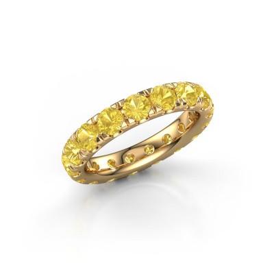 Foto van Aanschuifring Jackie 3.7 375 goud gele saffier 3.7 mm