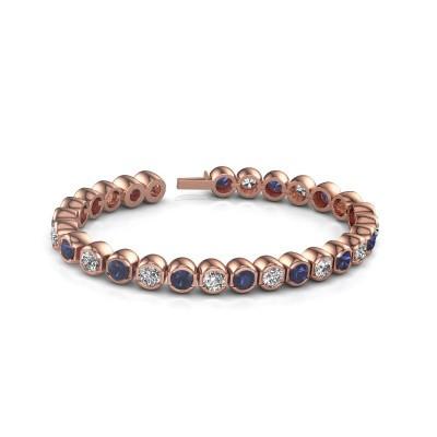 Picture of Tennis bracelet Delma 375 rose gold diamond 7.00 crt