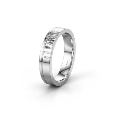 Vriendschapsring WH0332L14X 950 platina diamant ±4x1.5 mm