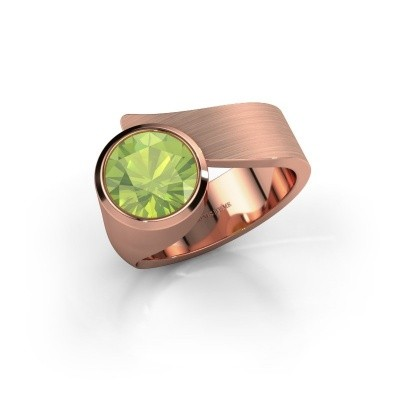 Ring Nakia 375 rosé goud peridoot 8 mm